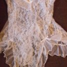 Nwot White Sheer Seductive Wear by Cinema Exile Size M