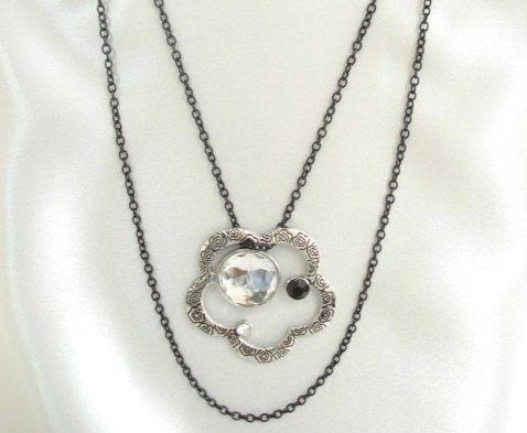 """1003N 22"""" chain necklace with 2"""" pendant"""