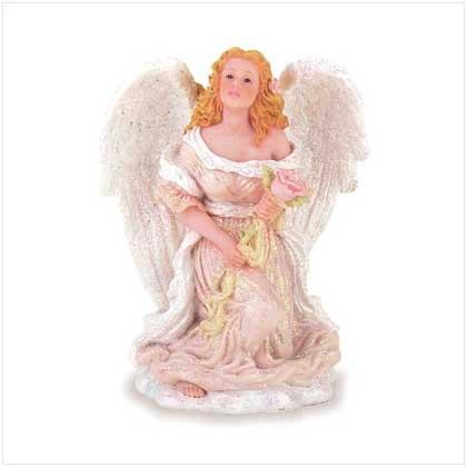 Angel Kneeling with Rose - Alabastrite