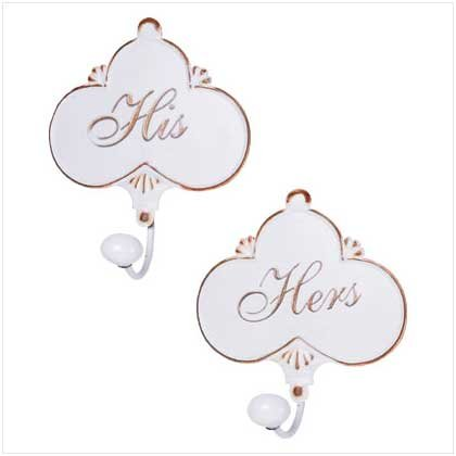 Distress His/Her Wall Hooks - Pair