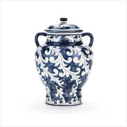 Blue Asian-inspired Ginger Jar