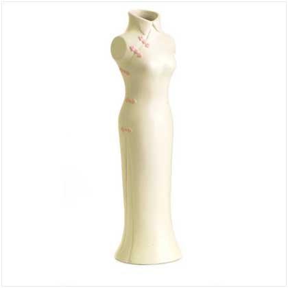 Lady Figural Vase - Ceramic