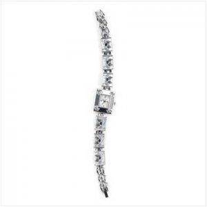 Black Butterfly Silver Link Watch
