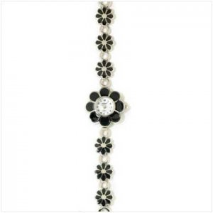 FLOWER DIAL AND BRACELET WATCH