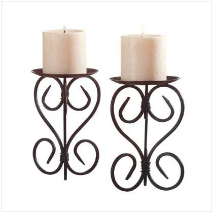 METAL CATHEDRAL CANDLEHOLDERS
