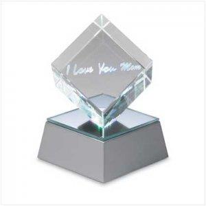 Love U Mom Cube with Led Base