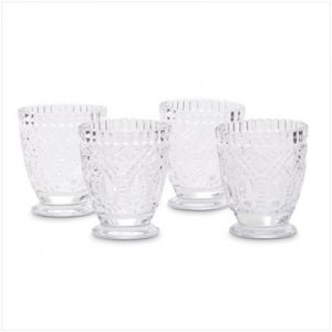 Old Fashioned Glass Set - 4 Pc