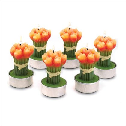 Small Tulip Bouquet Candle - 6 Pk
