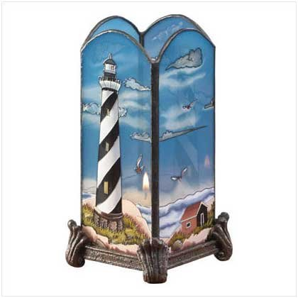 Glass Lighthouse Votive Holder