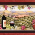 Painted Glass Wine Frame Plaque