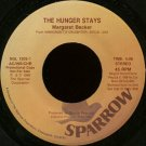 "MARGARET BECKER--""""THE HUNGER STAYS"""" (4:06)/""""IMMIGRANT'S DAUGHTER"""" (4:25) 45 RPM 7"""" Vinyl"