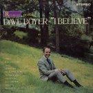 DAVE BOYER--I BELIEVE Vinyl LP (AUTOGRAPHED)