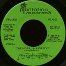 "THE ELECTRIC CHURCH--""""THE MORAL MAJORITY"""" (3:05)/""""BUMPER STICKERS"""" (2:39) 45 RPM 7"""" Vinyl"