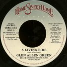 "GLEN ALLEN GREEN--""""A LIVING FIRE"""" (3:55)/""""ARTIST INTRODUCTIONS & COMMENTS"""" (2:30) 45 RPM 7"""" Vin"