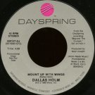 "DALLAS HOLM--""""MOUNT UP WITH WINGS"""" (4:09) (BOTH SIDES STEREO) 45 RPM 7"""" Vinyl"