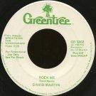 "DAVID MARTIN--""""ROCK ME"""" (5:25) (BOTH SIDES STEREO) 45 RPM 7"""" Vinyl"