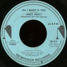"ANDY PRATT--""""ALL I WANT IS YOU"""" (STEREO - 2:58/MONO - 2:58) 45 RPM 7"""" Vinyl"