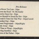 TOM STIPE--NEVER TOO LATE PRE-RELEASE Cassette Tape