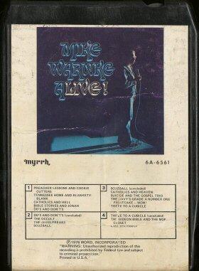 MIKE WARNKE--MIKE WARNKE ALIVE! 8-Track Tape