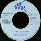 """FLETCH WILEY--""""""""PEOPLE GET READY"""""""" (4:33) (BOTH SIDES STEREO) 45 RPM 7"""""""" Vinyl"""