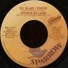 "DENIECE WILLIAMS--""""SO GLAD I KNOW"""" (4:00)/""""I SURRENDER ALL"""" (4:13) 45 RPM 7"""" Vinyl"