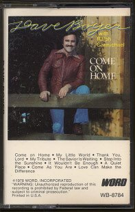 DAVE BOYER--COME ON HOME Cassette Tape