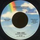 "TERRI GIBBS--""SOMEBODY'S KNOCKIN'"" (2:52)/""SOME DAYS IT RAINS ALL NIGHT"" (2:57) 45 RPM 7"""