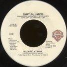 "EMMYLOU HARRIS--""PLEDGING MY LOVE"" (2:58)/""BABY, BETTER START TURNIN' 'EM DOWN"" (3:00) 45 RPM 7"""
