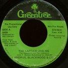 "ANDRUS, BLACKWOOD & COMPANY--""THE CAPTAIN AND ME"" (3:53) (Stereo/Mono) 45 RPM 7"" Vinyl"
