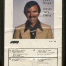 DAVE BOYER--THIS IS WHY I SING 8-Track Tape Cartridge