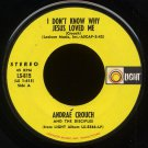 "ANDRAE CROUCH & THE DISCIPLES--""I DON'T KNOW WHY JESUS LOVED ME""/""IT WON'T BE LONG"" 1972 45 RPM 7"""