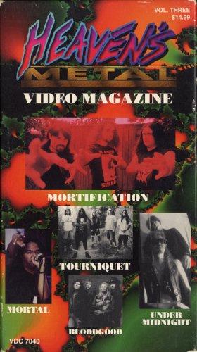 VARIOUS--HEAVEN'S METAL VIDEO MAGAZNIE VHS Video (Mortification, Tourniquet, Bloodgood)
