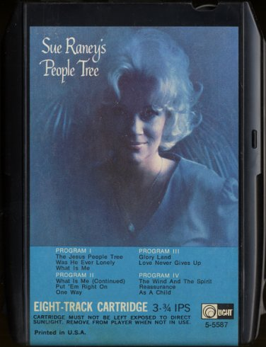 SUE RANEY--SUE RANEY'S THE PEOPLE TREE 1972 8-Track Tape Cartridge
