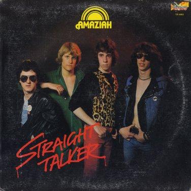 AMAZIAH--STRAIGHT TALKER 1980 Vinyl LP (Canadian Pressing On Red Vinyl)