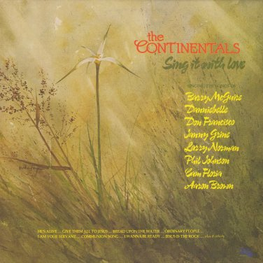THE CONTINENTALS--SING IT WITH LOVE 1978 Vinyl LP