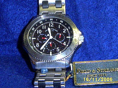 NEW FIELD & STREAM MENS TACHYMETER WATCH