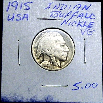 1915 BUFFALO NICKLE-VERY GOOD