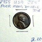 1955 POOR MANS DOUBLE DIE