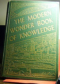 """""""FIRST EDITION"""" 1949 THE MODERN WONDER BOOK OF KNOWLEDGE"""