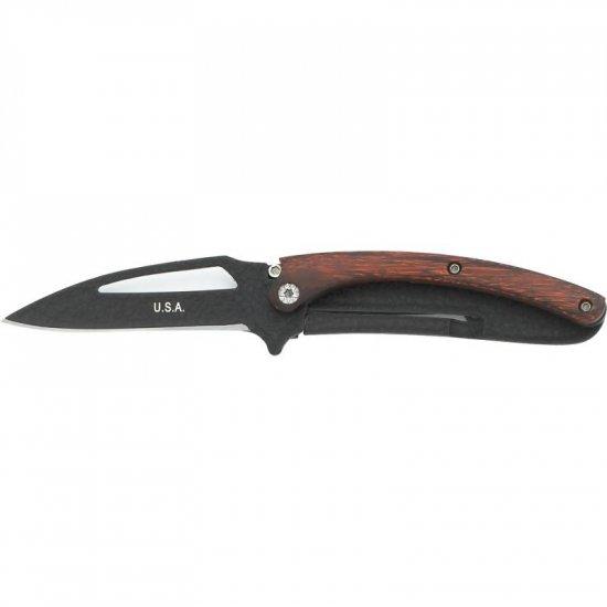 Black Blade Liner Lock Knife