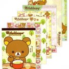 San-X Rilakkuma Memo Pad - Relax in the Forest Series