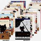 San-X Kutusita Nyanko Eiffel Tower & Music Memo Pad - #001