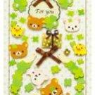 San-X Rilakkuma Thank You 3-D Sticker - Clover