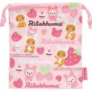 San-X Rilakkuma Strawberry Love Series Drawstring Bag