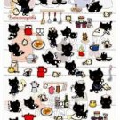 San-X Kutusita Nyanko Kitchen Series Sticker with Glitter - #204