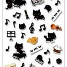 San-X Kutusita Nyanko Music Series Sticker with Glitter - #702
