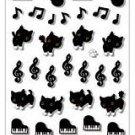 San-X Kutusita Nyanko Music Series Sticker with Glitter - #701
