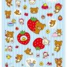 San-X Rilakkuma Strawberry Series Glittery Sticker - #202