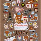 San-X Rilakkuma Bonjour​ Series Sticker with Gold Accent - #701