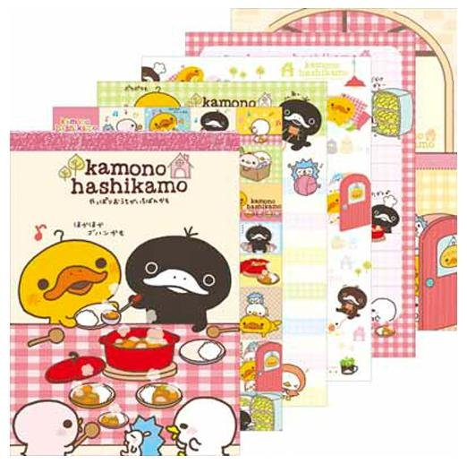 "San-X Kamono Hashikamo & Friends ""The House Mattari"" Series Memo Pad"